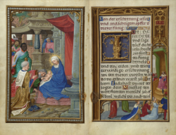 Open spread folio 36v and 37r The Queen of Sheba