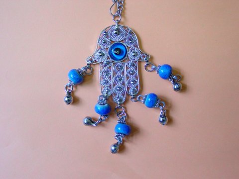 Figure 3 Egyptian Hand with blue evil eye beads